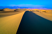 Sand Dunes Pyrography Metal Prints - Death Valley Dunes Metal Print by John Ferebee
