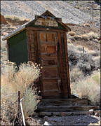 Bodie Out House Posters - Death Valley Outhouse Poster by Lydia Warner Miller