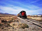 Freight Train Posters - Death Valley Railroad Poster by Benjamin Yeager