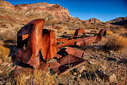 Death Valley Photos - Death Valley Truck by Peter Tellone