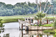 Lowcountry Prints - Debbie John Shrimp Boat Print by Scott Hansen