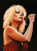 Singer Painting Posters - Deborah Harry or Blondie Poster by Paul  Meijering