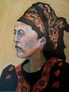 Watercolorist Painting Originals - Deborah the Warrior by Esther Newman-Cohen