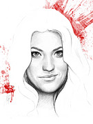 Tv Show Prints - Debra Morgan Portrait - DEXTER Print by Olga Shvartsur