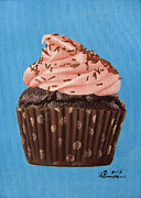 Cupcake Paintings - Decadence by Kayleigh Semeniuk