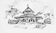 July 4th Drawings - Decatur Transfer House by Scott and Dixie Wiley