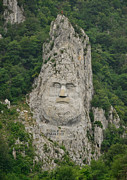 Joshua Massenburg Originals - Decebalus rex sculpture in mountain rock by Joshua Massenburg