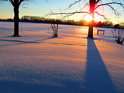 Winter Roads Photos - December 18 2013 Sunrise by Tina M Wenger