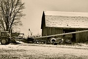 Barn In The Woods Photos - December In The Country by Dan Sproul