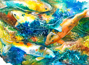 Koi Painting Originals - December Koi II by Patricia Allingham Carlson