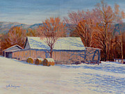 Bales Paintings - December Light by Keith Burgess