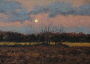 Gregory Arnett Paintings - December Moon by Gregory Arnett