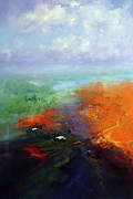 Floods Paintings - December Rains by Marie Green