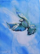 Romantic Pastels - Decending Dove by Connie Lynn Pico