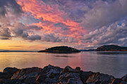 Whidbey Island Prints - Deception Pass Sunset Print by Dan Mihai