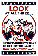 Us Propaganda Art - Decide Which One You Want To Kick First And Hardest by War Is Hell Store