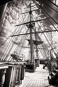 Merchant Ship Prints - Deck and Masts Print by George Oze