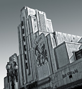 Deco Building In Black And White Print by Gregory Dyer