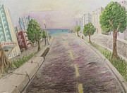 Miami Drawings - Deco Drive by Brenda Salamone