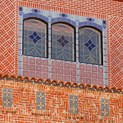 Patterned Photo Posters - Deco Facade Poster by Art Block Collections