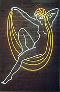Neon Glass Art - Deco Lady by Pacifico Palumbo