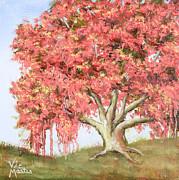 Deco Tree Print by Vic  Mastis