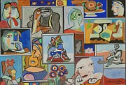 Fine Art  Of Women Paintings - Deconstructing Picasso - Lovely Women by Esther Newman-Cohen