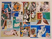 Fine Art  Of Women Paintings - Deconstructing Picasso - Seduction and Rage by Esther Newman-Cohen