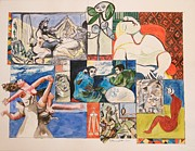 Posters Of Women Paintings - Deconstructing Picasso - Sleep and Fantasy by Esther Newman-Cohen