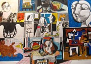 Fine Art  Of Women Paintings - Deconstructing Picasso - Women and Musicians by Esther Newman-Cohen