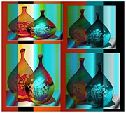 Jugs Digital Art Framed Prints - Decor 2 Framed Print by Iris Gelbart