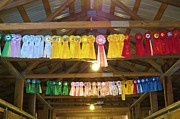 Barn Lots Framed Prints - Decorated Horse Barn Framed Print by Jeanette Oberholtzer