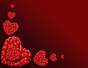 Hearts Digital Art - Decoration of Heart shaped Hearts by Kiril Stanchev