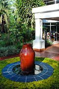 Africa Prints - Decorative Fountain Serena Hotel Gisenyi Rwanda Central Africa Print by Robert Ford