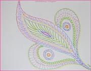 Thinking Of You Drawings - Decorative Leaf by Sonali Gangane