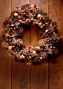 Wreath Posters - Decorative Wreath Poster by Olivier Le Queinec