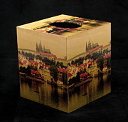 Prague Mixed Media - Decoupage Tissue Box Cover of Prague by Greg Matchick