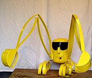 Backhoe Sculptures - Dede les paluches  by Antonin Gauthier