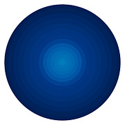 Gradient Prints - Deep Blue Circles Print by Frank Tschakert
