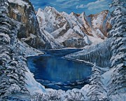 First Snow Paintings - Deep Dark  and Cold by Sharon Duguay