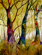 Maine Artist Paintings - Deep In The Woods by Brenda Owen