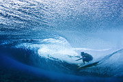 Photography Surf Framed Prints - Deep Inside Framed Print by Sean Davey