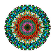 India Mixed Media Prints - Deep Love - Mandala Art By Sharon Cummings Print by Sharon Cummings