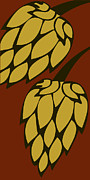 Hops Painting Framed Prints - Deep Passion Hops for Great Beer Framed Print by Alexandra Ortiz de Fargher