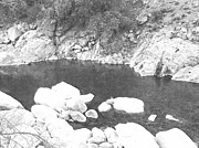 Pencil Drawing Photos - Deep Pool Feather River by Frank Wilson