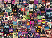 Evans Posters - Deep Purple Collage Poster by Taylan Soyturk