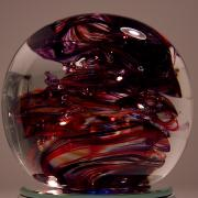 Glass Sculpture Glass Art - Deep Reds PRR1 by David Patterson