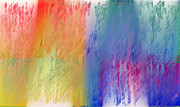Deep Rich Sherbet Abstract Print by Andee Photography
