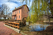 Brick Building Art - Deep River County Park Grist Mill by Paul Velgos