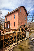 Indiana Trees Photos - Deep River Grist Mill in Northwest Indiana by Paul Velgos